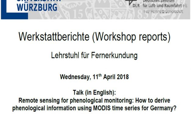 Workshop Report at the Department of Remote Sensing – April 11, 2018