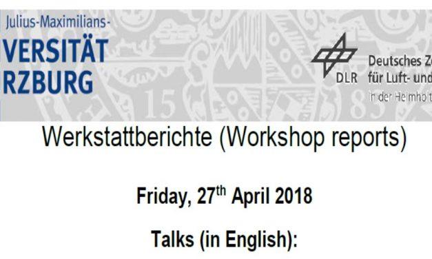 Workshop Reports at the Department of Remote Sensing – April 27, 2018