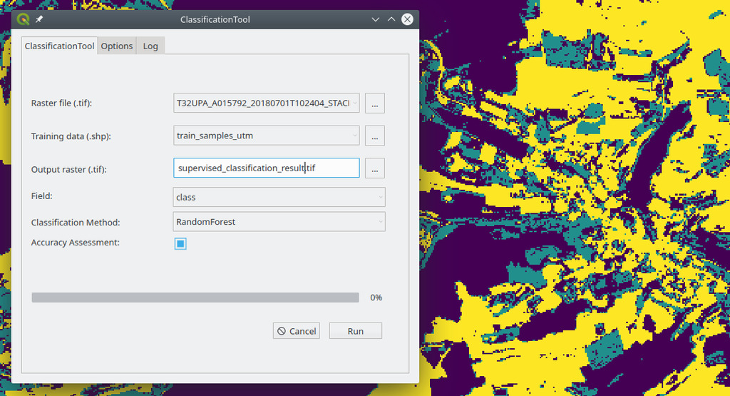 New QGIS plugin for supervised classifications