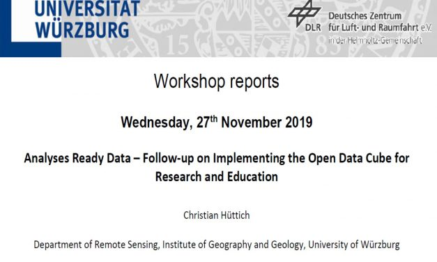 Workshop Report at the Department of Remote Sensing – November 27, 2019