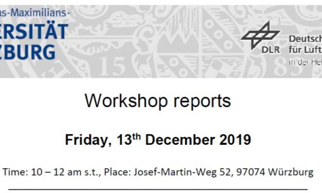Workshop Report at the Department of Remote Sensing – December 13, 2019