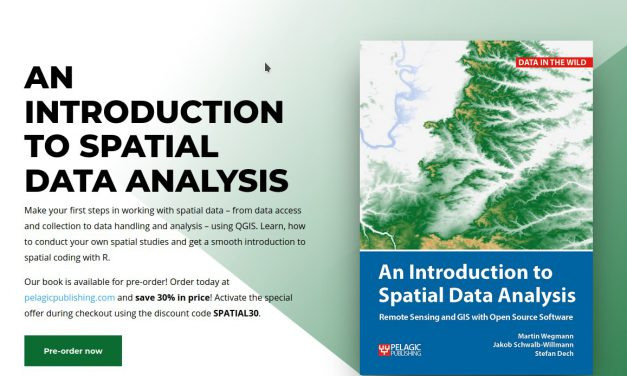 "Upcoming book ""Introduction to Spatial Data Analysis"" – 30% discount for pre-order"