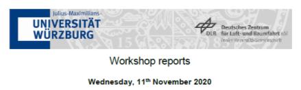 Workshop Report at the Department of Remote Sensing – November 11, 2020