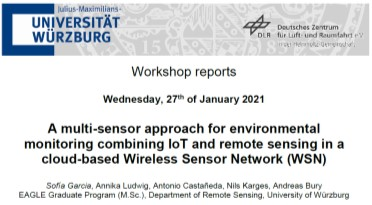 Workshop Report at the Department of Remote Sensing – January 27, 2021