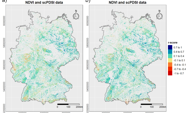 New Publication: Quantifying the Response of German Forests to Drought Events via Satellite Imagery