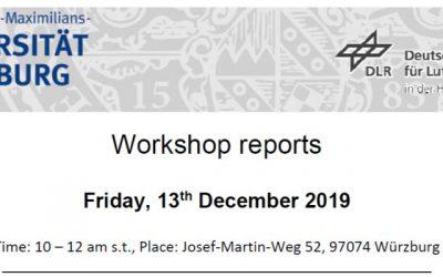 Workshop Report at the Department of Remote Sensing – December 13, 2019